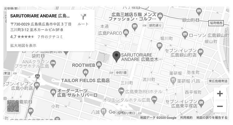 小売店のホームページに必要なアクセスマップ